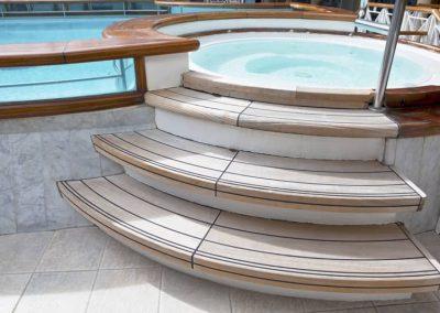 pool spa deck install